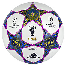 Buy Adidas UEFA Champions League Final Replica Mini Ball, White/Blue Online at johnlewis.com