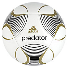 Buy Adidas Predator Football, White Online at johnlewis.com
