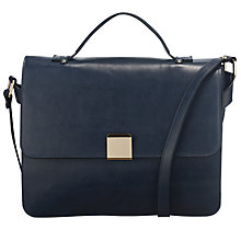 Buy Somerset by Alice Temperley Fuchsia Medium Satchel Handbag, Navy Online at johnlewis.com