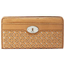 Buy Fossil Marlow Perforated Clutch Purse Online at johnlewis.com