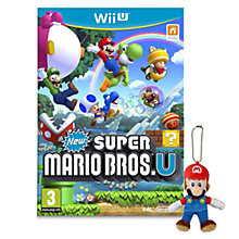 Buy New Super Mario Bros. U with Mario Mascot, Wii U Online at johnlewis.com
