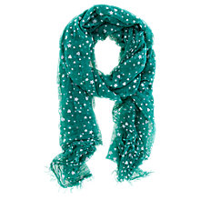 Buy Oasis Flocked Heart Scarf Online at johnlewis.com