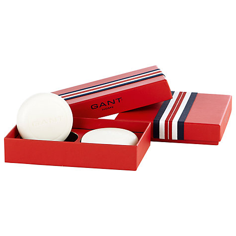 Buy Gant Cotton Clean Soaps in Gift Box, Pack of 2, Red Online at johnlewis.com