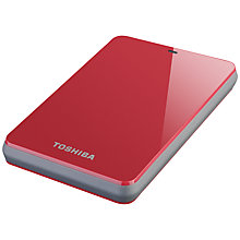 Buy Toshiba Canvio 2.5, Portable Hard Drive. 500GB. Red Online at johnlewis.com