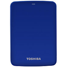Buy Toshiba Canvio 2.5, Portable Hard Drive. 1TB. Blue Online at johnlewis.com
