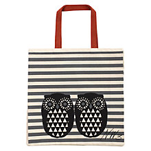 Buy NW3 Owl Printed Tote Bag, Black/Red Online at johnlewis.com