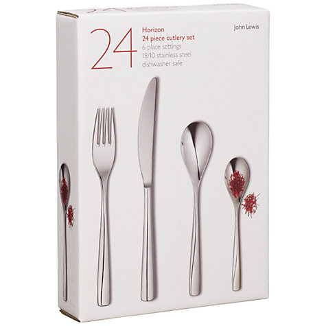 Buy John Lewis Horizon Cutlery Set, 24 Piece Online at johnlewis.com