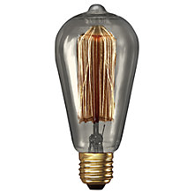 Buy Calex 40W ES Decorative Filament Rustic Bulb, Clear Online at johnlewis.com