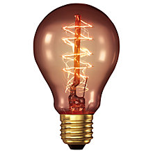 Buy Calex 40W ES Decorative Filament Classic Bulb, Gold Online at johnlewis.com