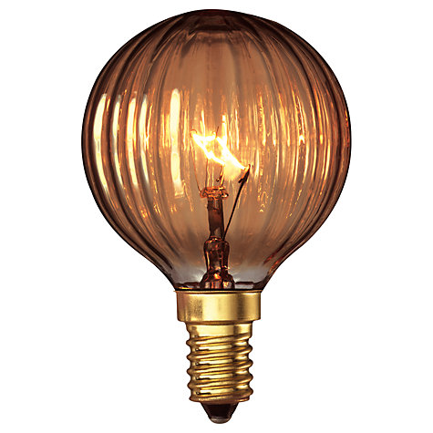 Buy Calex 25W SES Decorative Golf Bulb, Gold Online at johnlewis.com