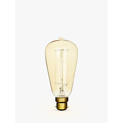 Calex 40W BC Decorative Filament Rustic Bulb, Gold