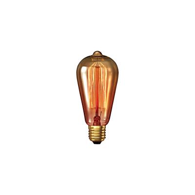 Calex 40W ES Decorative Filament Rustic Bulb, Gold