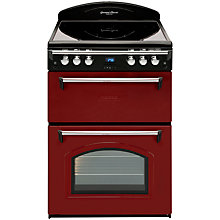 Buy Leisure GRB6CVR Electric Cooker with Ceramic Hob, Regency Red Online at johnlewis.com