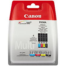 Buy Canon CLI-551 Inkjet Cartridge Multipack Online at johnlewis.com