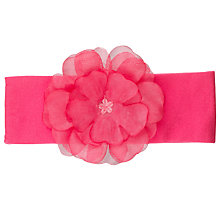 Buy John Lewis Girl Flower Head Band, Pink Online at johnlewis.com