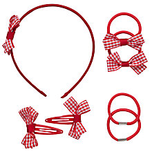 Buy John Lewis Girl Gingham Hair Accessory Set Online at johnlewis.com