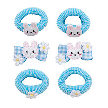 Buy John Lewis Girl Mini Bunny Hair Set, Blue Online at johnlewis.com