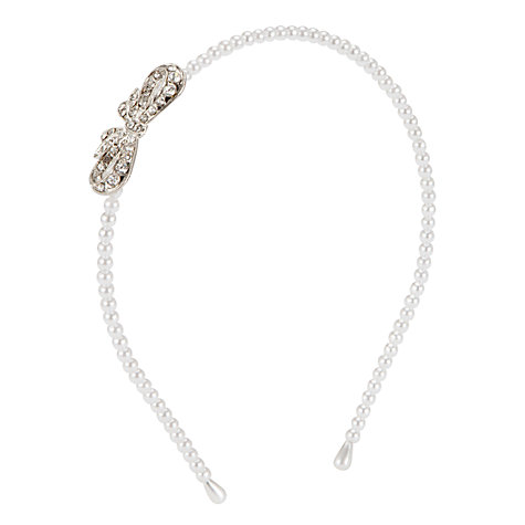 Buy John Lewis Girl Pearl and Bow Alice Band Online at johnlewis.com