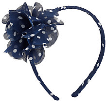 Buy John Lewis Girl Polka Dot Flower Alice Head Band Online at johnlewis.com
