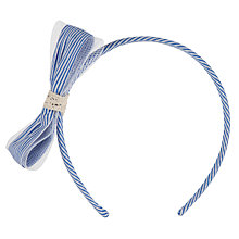 Buy John Lewis Girl Striped Alice Band, Blue/White Online at johnlewis.com