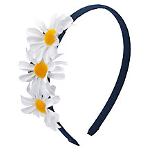Buy John Lewis Girl Daisy Alice Band, Blue/White Online at johnlewis.com