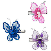 Buy John Lewis Girl Butterfly Hair Clips, Pack of 3, Multi Online at johnlewis.com