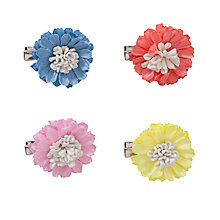 Buy John Lewis Girl Flower Hair Clips, Pack of 4, Multi Online at johnlewis.com