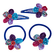 Buy John Lewis Girl Patchwork Hair Accessory Set, Pack of 4, Multi Online at johnlewis.com
