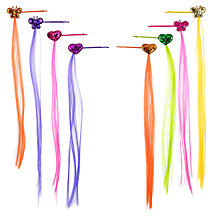 Buy John Lewis Girl Butterfly and Heart Hair Pins with Fake Hair, Pack of 8, Multi Online at johnlewis.com