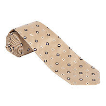 Buy Daks Fancy Silk Tie, Brown Online at johnlewis.com
