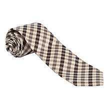 Buy Daks House Check Silk Tie, Brown Online at johnlewis.com