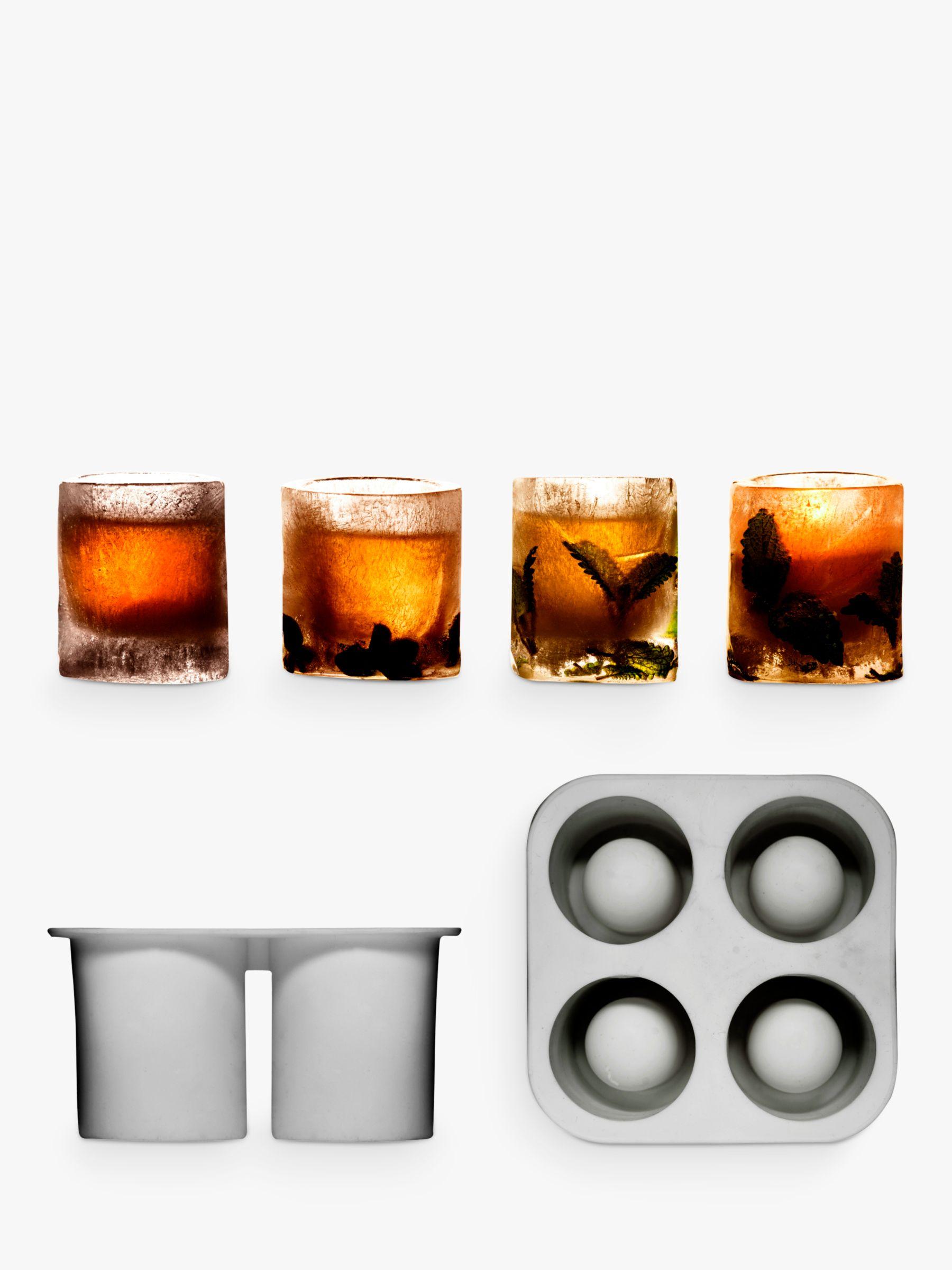 Sagaform Sagaform Ice Shot Glass Mould, Set of 4, Clear