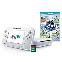Buy Nintendo Wii U 8GB Basic Pack with Sports Connection Game and 8GB SD Card, White Online at johnlewis.com