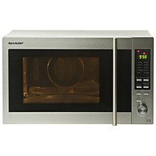 Buy Sharp R92STM Combination Microwave, Stainless Steel Online at johnlewis.com