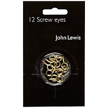 Buy John Lewis Screw Eyes, Pack of 12 Online at johnlewis.com