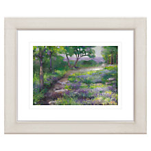 Buy Debbie Neill - Path Through the Bluebells Framed Print, 57 x 47cm Online at johnlewis.com