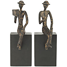 Buy John Lewis Man with Books Bookends Online at johnlewis.com