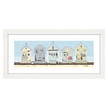 Buy Sally Swannell - Row Of Beach Huts Framed Print, 52 x 107cm Online at johnlewis.com