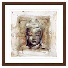 Buy Elvira Amrhein- Innerer Friede Buddha Framed Print, 88 x 88cm Online at johnlewis.com