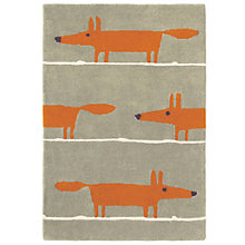 Buy Scion Mr Fox Rug, Orange/Beige, L180 x W120cm Online at johnlewis.com