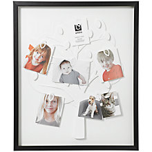 Buy Umbra Family Tree Frame, Black Online at johnlewis.com