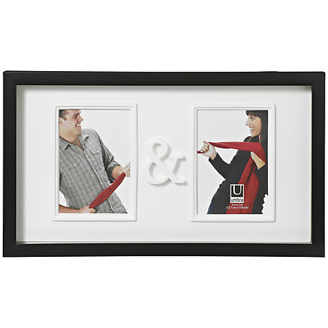 "Buy Umbra You & Me Photo Frame, Black, 5 x 7"" (13 x 18 cm) Online at johnlewis.com"