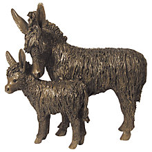 Buy Frith Sculpture Donkey and Foal Standing, by Veronice Ballan Online at johnlewis.com