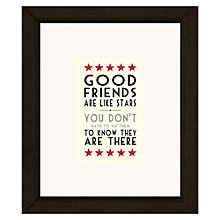 Buy East of India Good Friends Like Stars Framed Print, 23 x 27cm Online at johnlewis.com