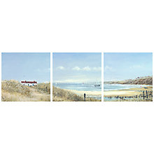 Buy Anthony Waller - Coastal Pathway Trip Print of Canvas, Set of 3, 35 x 35cm Online at johnlewis.com