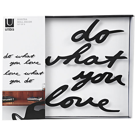 Buy Umbra Mantra Writing Wall Decor, Black Online at johnlewis.com