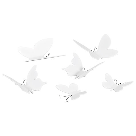 Buy Umbra Mariposa Butterfly Wall Decor, White, Set of 9 Online at johnlewis.com
