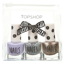 Buy TOPSHOP 3 Colour Nail Set, Multi Online at johnlewis.com