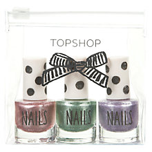 Buy TOPSHOP 3 Colour Nail Set, Metallics Online at johnlewis.com