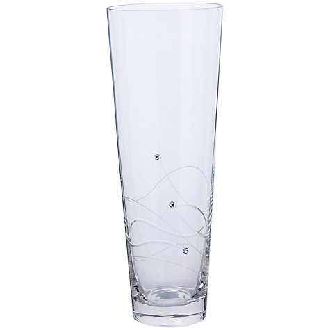 Buy Dartington Crystal Glitz Flared Vase, H35cm Online at johnlewis.com
